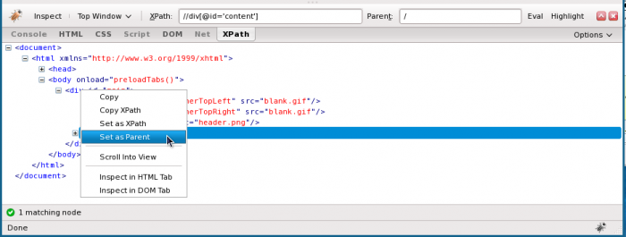 Adding a little jQuery/Sizzle to FirePath for Firebug | studgeek